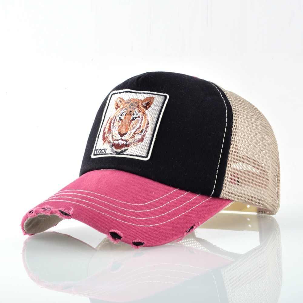Snapback الهيب هوب قبعات سائقي الشاحنات للرجال تنفس شبكة العظام الصيف النمر البيسبول قبعات النساء التصحيح دريك Casquette Gorras Hombre