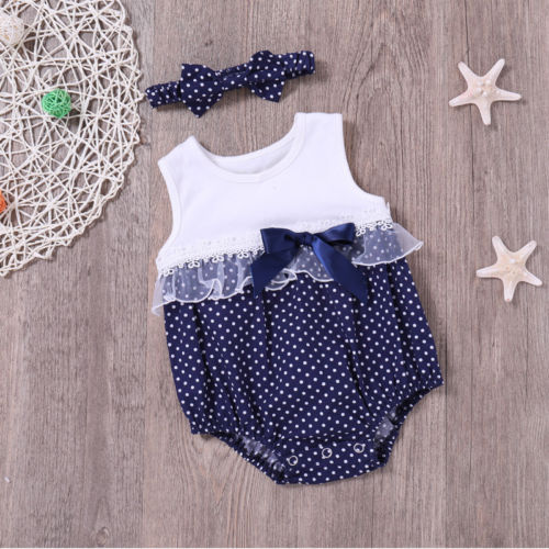 Cotton Newborn Baby Girl Polka Dot   Romper