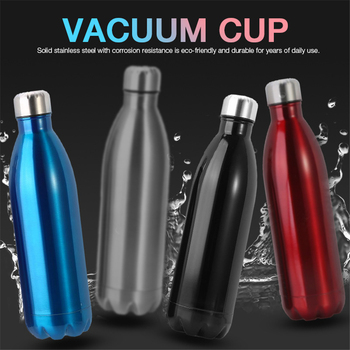 350/500/1000ml Thermal Cup Vacuum Flask Heat Water Bottle Stainless Steel Heat Insulation Drink Bottle Thermos Vacuum Portable