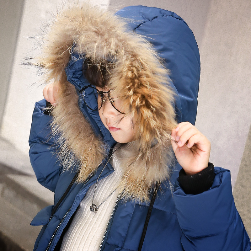 Boys Winter Jackets Parkas Jackets Children Outerwear Zipper Long Fur Hooded Cotton Down Coats Teen Boys Coat Clothing Overcoat boys winter jacket camouflage coats hooded down coat fur collar overcoat cotton snowsuit teenages outerwear wua791702