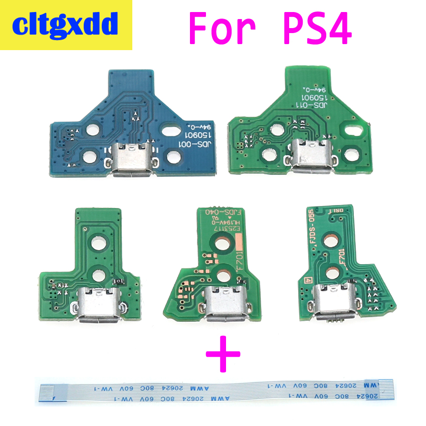 cltgxdd For <font><b>PS4</b></font> Controller USB Charging Port Socket Circuit Board 12Pin JDS 001 011 030 040 055 14Pin 001 <font><b>Connector</b></font> Cable image