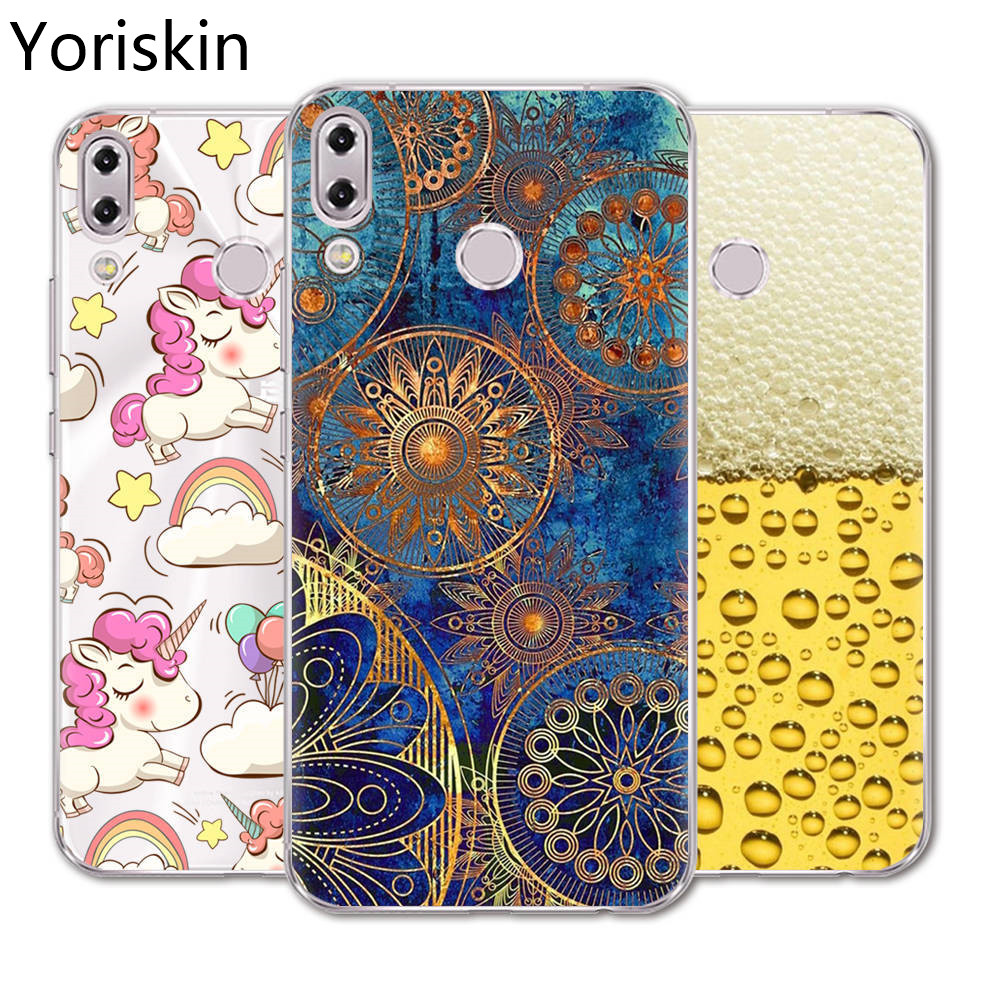 ZE620KL Ultra Thin Silicone Protective Back Phone Cover Case For Asus Zenfone 5 ZE620KL Cute Cartoon Painted Slim Soft Tpu Case