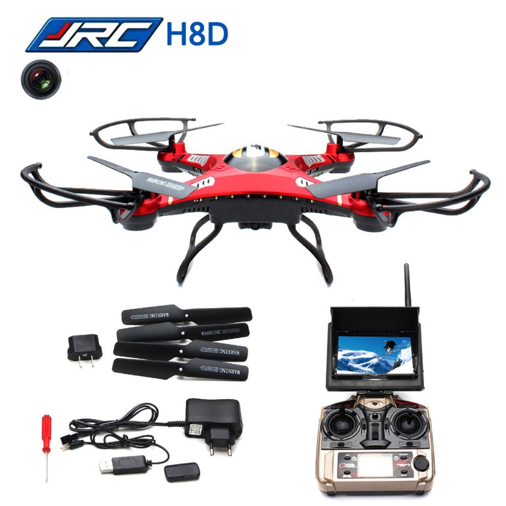 JJRC H8D 4CH 360 Flips One-key-return 2.4GHz RC Quadcopter w 2MP FPV 5.8GHz Camera Headless Mode RTF jjrc h8d fpv quadcopter racing racer rc drones with 2mp hd camera headless mode one key return helicopter toys gift rtf