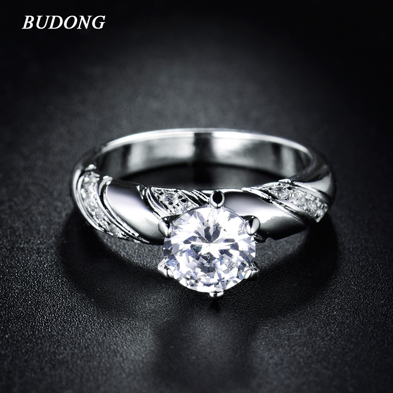 budong women rings new arrival silver color engagement. Black Bedroom Furniture Sets. Home Design Ideas