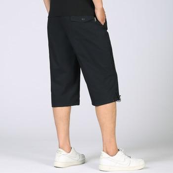Summer Men's Baggy Multi Pocket Military Zipper Cargo Short Hot Breeches Long Army Green Khaki Bermuda Male Capris Plus Big Size 2