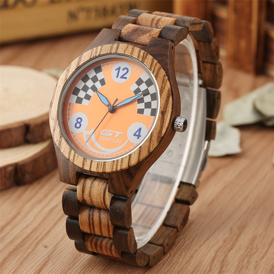 reloj masculino Men's Watch Quartz Movement High Quality Wooden Watch Mens Casual Natural Wood Watchband New Arrival 2019(China)