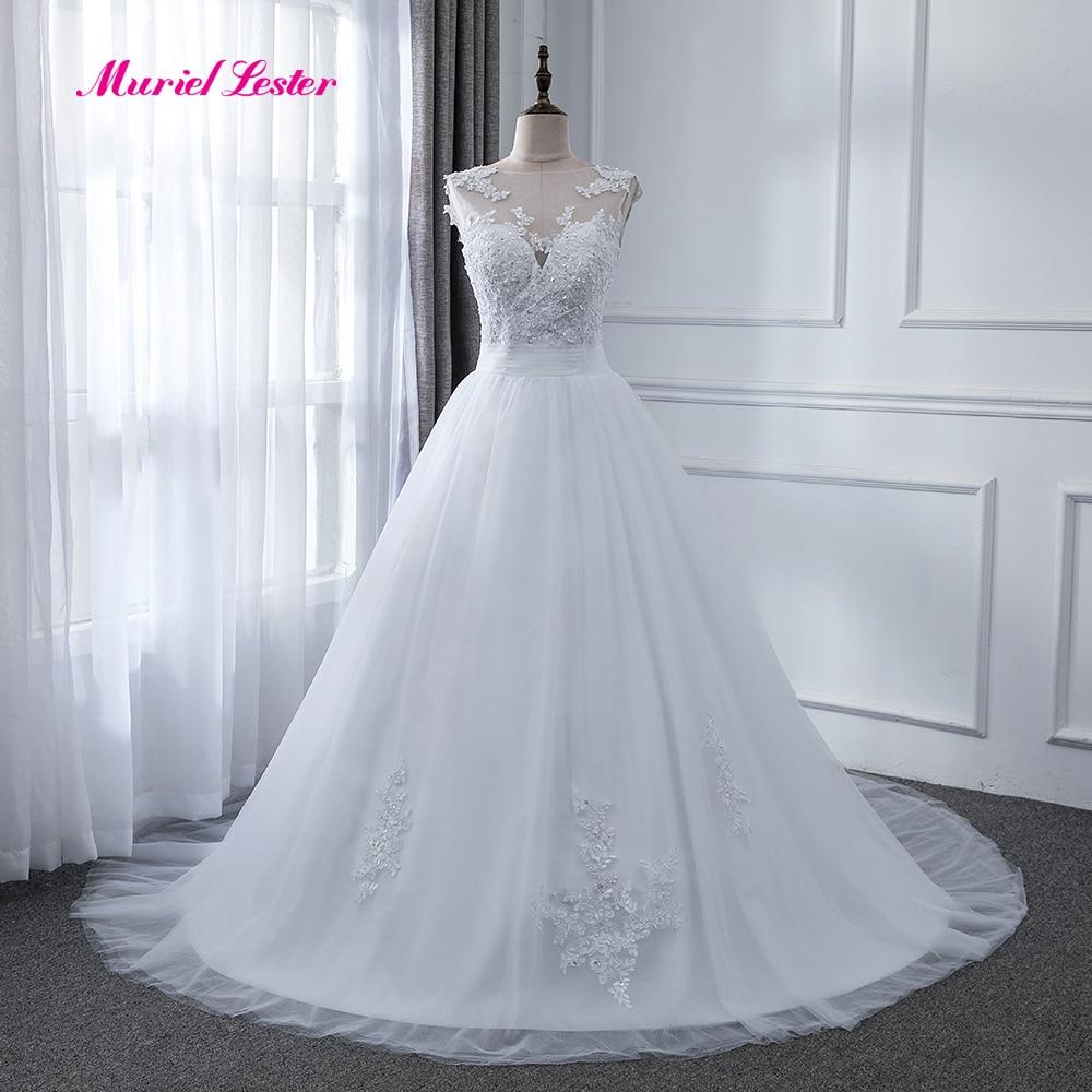 Vestidos De Novia Vintage Pleated Puffy Tulle Wedding Dress Beading Appliques Bridal Gowns Custom Made Beach Dresses Marriage