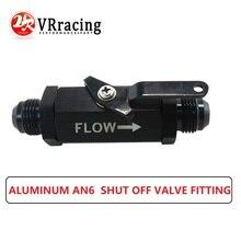 VR RACING AN6 6AN-6 запорный клапан место алюминиевый черный VR-WLPV72-06B