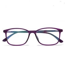New style of 2019, womens anti-blue glasses, ultra-light TR90 computer goggles box infinite blue film flat glasses