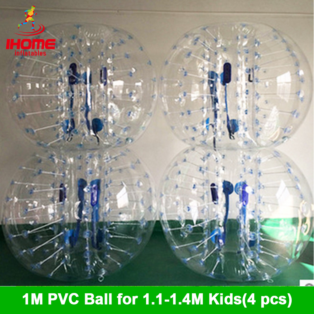 1M 4pcs+1 Foot Pump With Factory Price, Inflatable Bubble Ball Suit For Team Building ,bubble Soccer Wholesale
