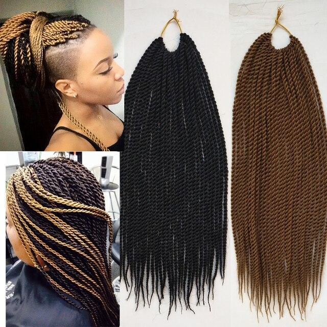 30 Wurzelnpack 18 Zoll 75g Twist Haar Schwarz Braun Braid Haar
