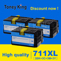 Toney King для HP 711XL 711 XL сменный картридж совместимый для HP 711 DesignJet T120 T520 принтер CZ133A CZ130Z CZ13A