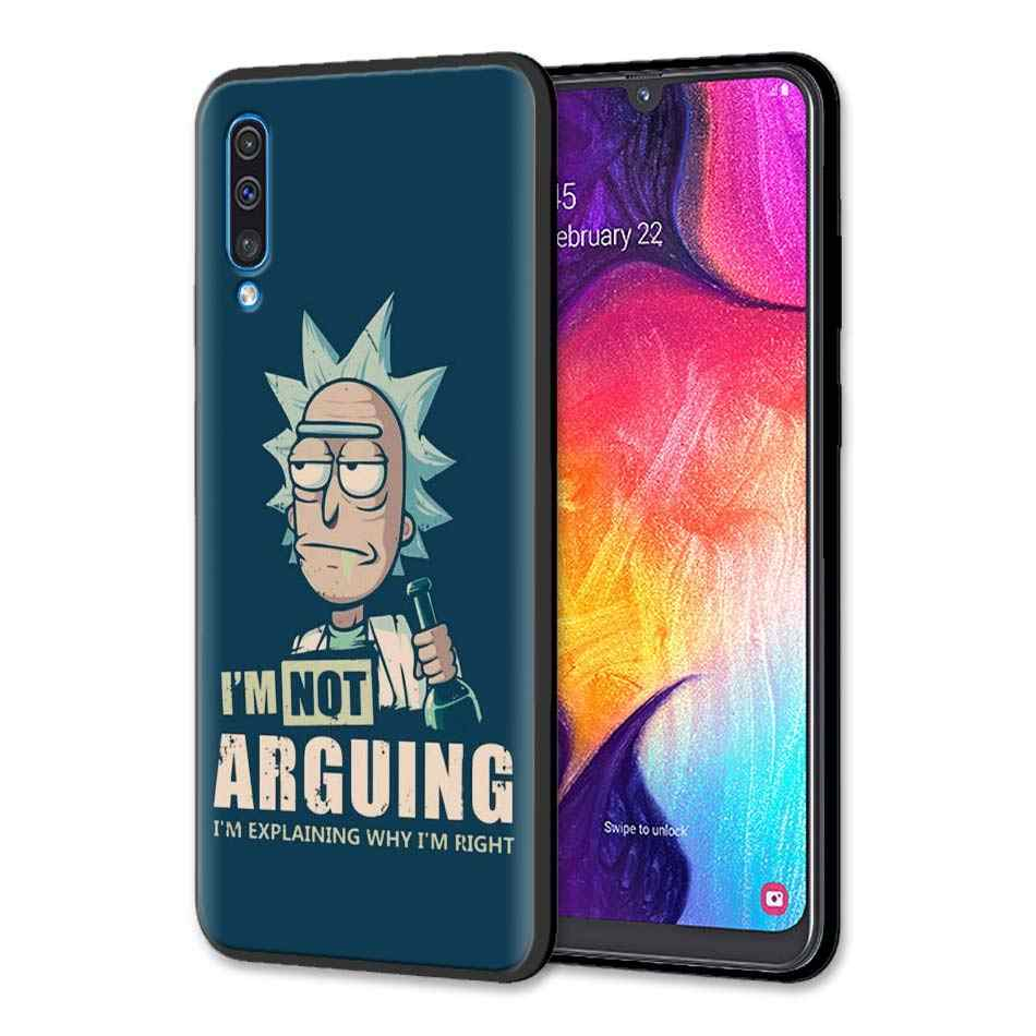 Rick And Morty Silicone Soft Case for Samsung Galaxy A50 A70 A40 A10 A20 A30 A60 A9 A8 A6 A7 Black Case Cover
