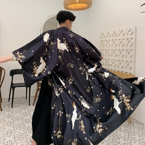 Mężczyźni brokat luźna na co dzień długa koszula trencz mężczyzna kobiet Kimono krótki rękaw sweter ochrony przeciwsłonecznej kurtka plażowa szata wiatrówka