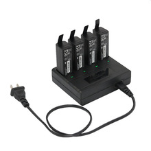 4-Port Quad Charging Parallel Battery Charger with Cable for DJI OSMO / OSMO Mobile Handheld Stabilized Gimbal Batteries