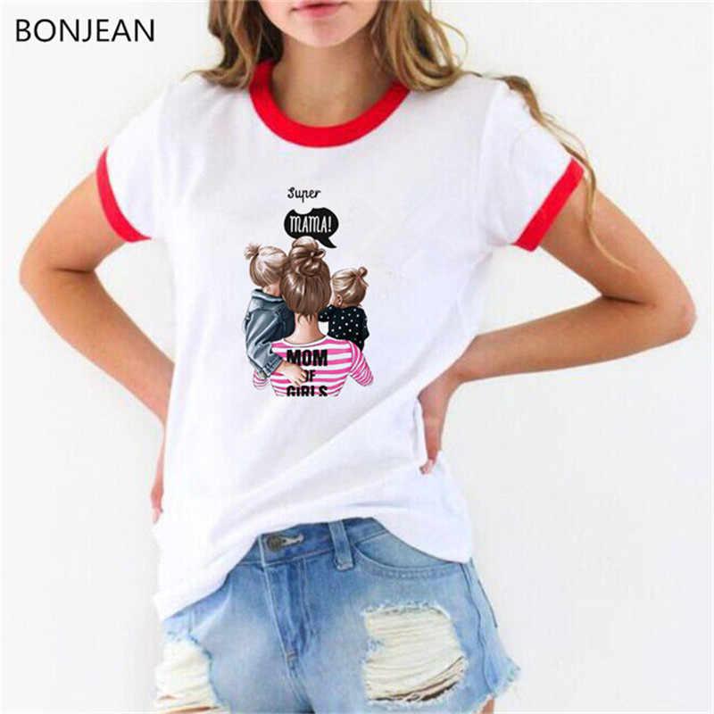 Vogue Super mama camiseta mamá y niños hijas hijos imprimir camiseta femme mom life graphic tees mujeres blanco verano top camiseta