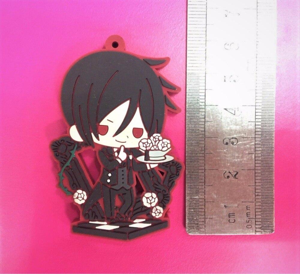 Japan Anime Kuroshitsuji //Black Butler Rubber Phone Strap Charm Keychain Pendant