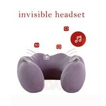 Handsfree Bluetooth music player U shape pillow somatosensory massage 3D surround sound same frequency resonance