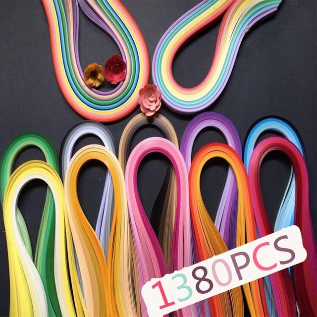 1380 Stücke Quilling Papier In Verschiedenen Farben Diy