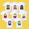 Retail 2015 New Summer Despicable Me Superman Batman short-sleeved t-shirt children's shirts high quality boys girls t shirts