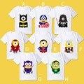 Varejo 2015 Novo Verão Despicable Me Superman Batman curto-de mangas compridas t-shirt camisas de alta qualidade das crianças das crianças das meninas dos meninos t camisas