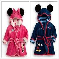 2014 Winter Autumn Children S Pajamas Robe Kids Micky Minnie Mouse Bathrobes Baby Homewear Boys Girls