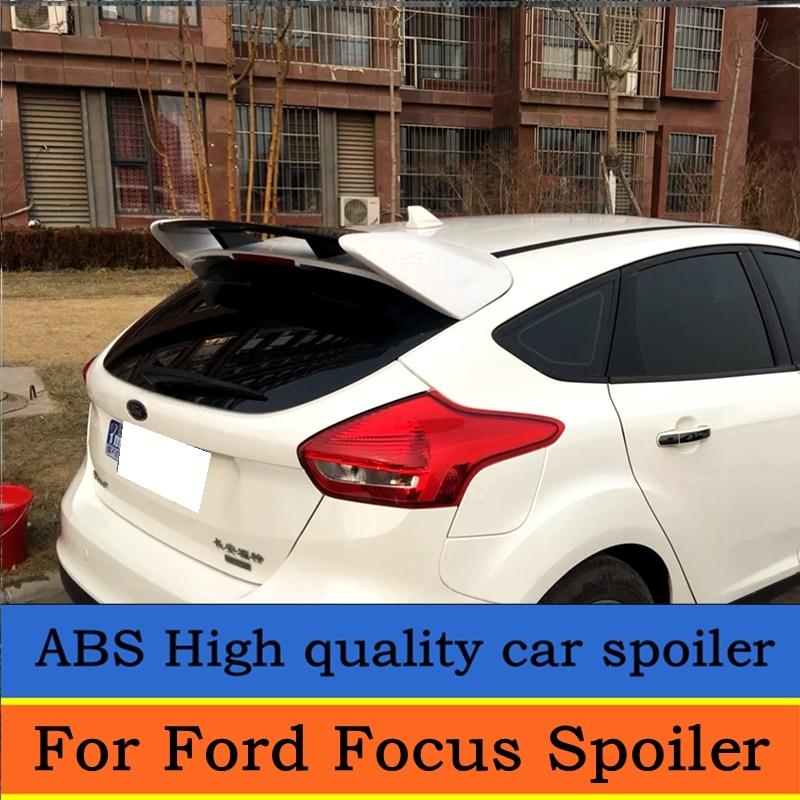 Pour Ford Focus ST Spoiler 2012-2015 matériau ABS de haute qualité amorce d'aile arrière de voiture couleur aileron arrière pour Focus ST Spoiler