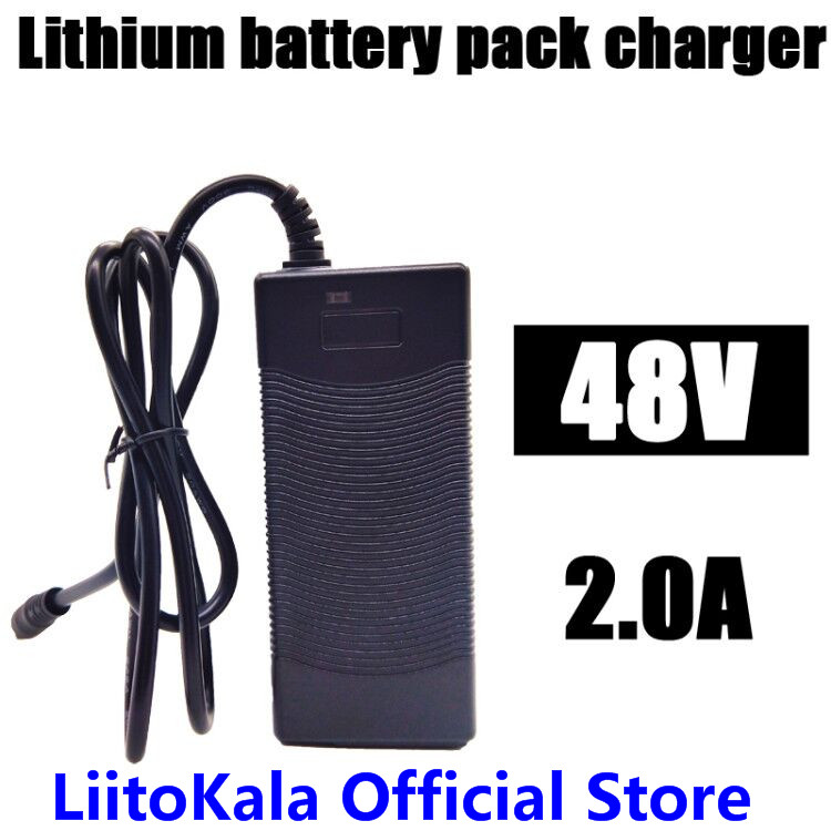 HK LiitoKala 48V 2A charger 13S 18650 battery pack charger 54.6v 2a constant current constant pressure is full of self-stop for ppw le55tm 0 a rev0 6 6917l 0137a constant current board pressure plate is used