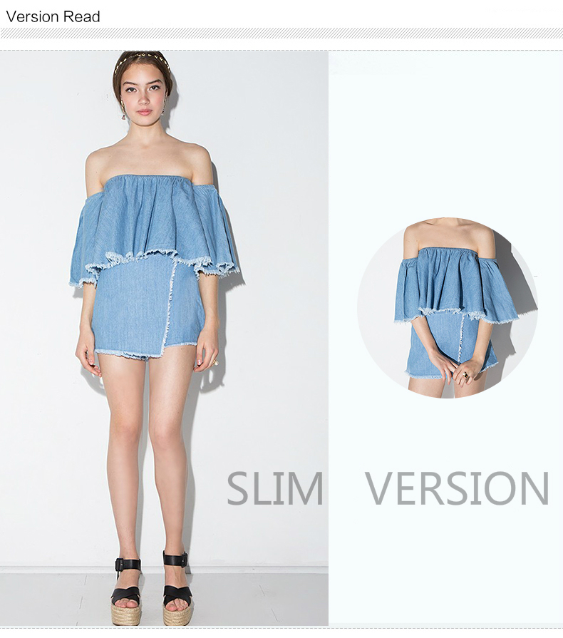 HTB1Pe8tRXXXXXckXFXXq6xXFXXXz - Slash-Neck Off Shoulder Tops Fashion Denim Shirts JKP190
