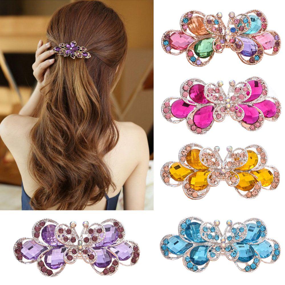 Ha hair accessories for sale - Retro Vintage Women Ladies Girls Crystal Butterfly Flower Ha For Sale In Pakistan