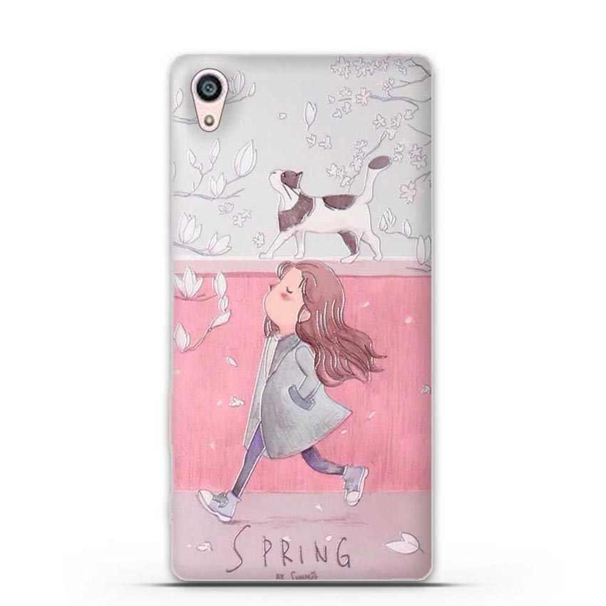 Yumuşak silikon kılıf Sony Xperia Z5 Premium/Z5 artı E6853 E6883 5.5 inç telefon kapak TPU arka kılıfları Fundas çapa Para Coque