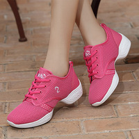 Square Mesh Breathable Modern Shoes Adult Women Dance Shoes Soft Bottom Children Fitness Square Dance Jazz
