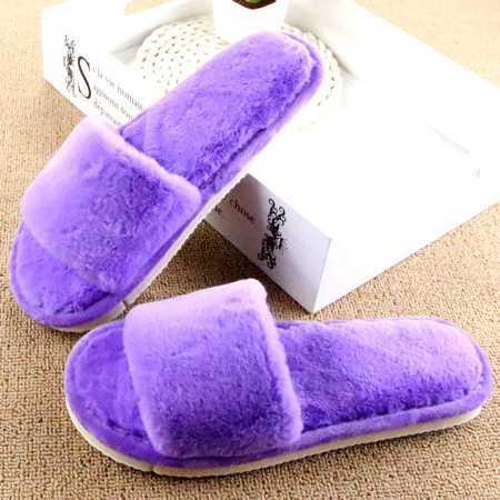 Winter Slippers Women Warm Soft Fur Home Shoes Pantufa Soft Sole Wool Indoor Flat Shoes Female Plush Casual Footwear Chinelo