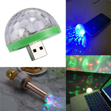 USB Disco Light LED Party Lights Portable Crystal Magic Ball Colorful Effect Stage Lamp for Home Party Karaoke Decor Christmas цена и фото