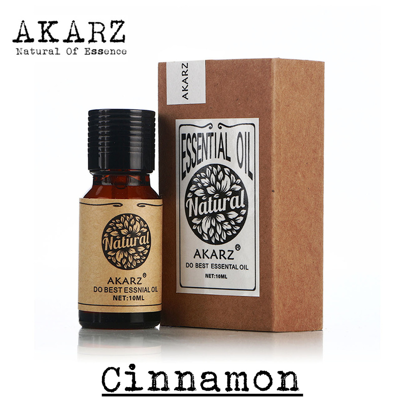 AKARZ Famous brand pure natural aromatherapy cinnamon oil essential oil Tighten the skin,Soothe the digestive tract