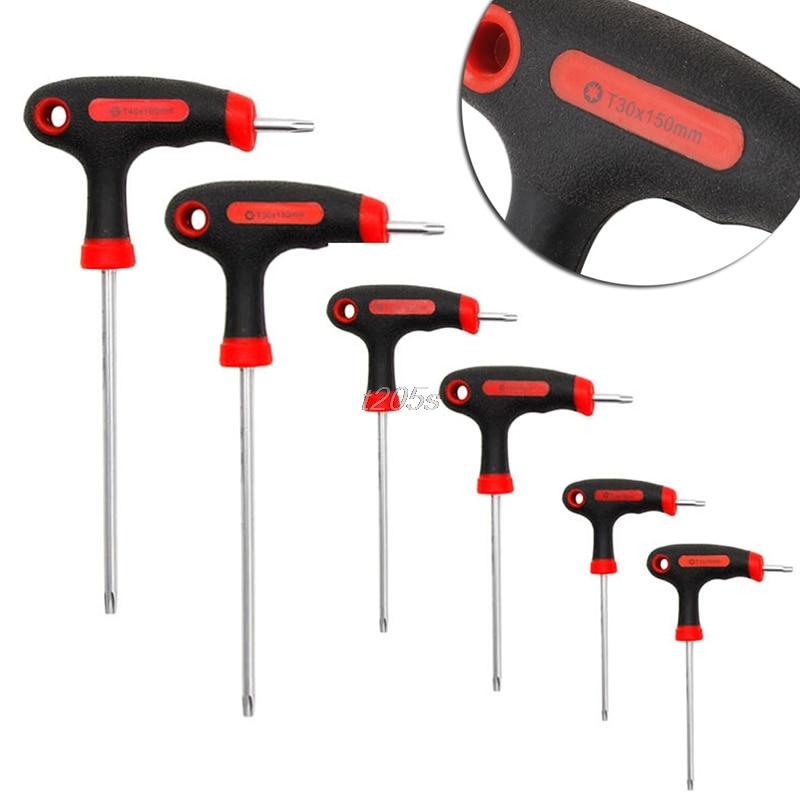 T-Handle Grip Torx&Hex Allen Key Screwdriver Driver Tool T10/T15/T20/T25/T30/T40 T18 Drop Ship