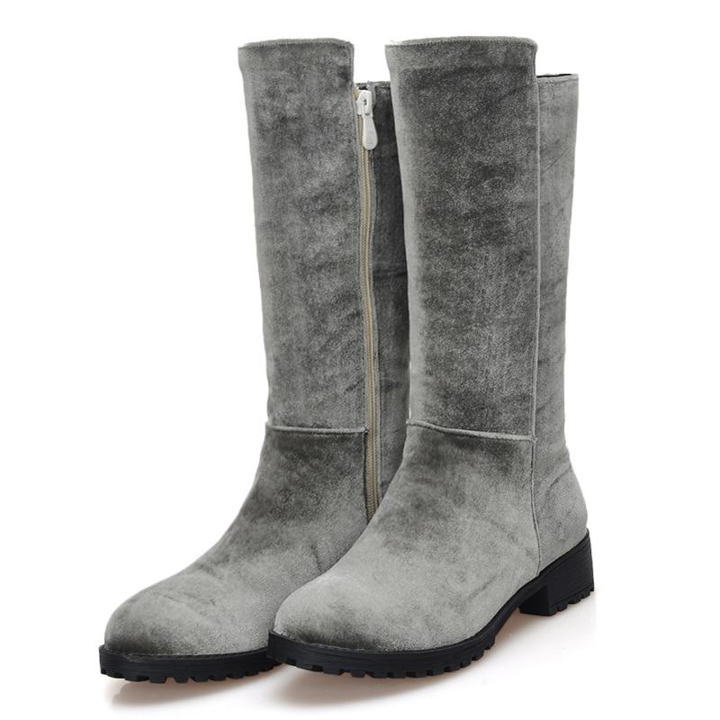 Popular Grey Boots Mid Calf-Buy Cheap Grey Boots Mid Calf lots ...