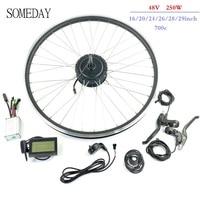 Vender Algún día kit de conversión Ebike 48V 250W girar CAMBIO DE buje sin escobillas de rueda