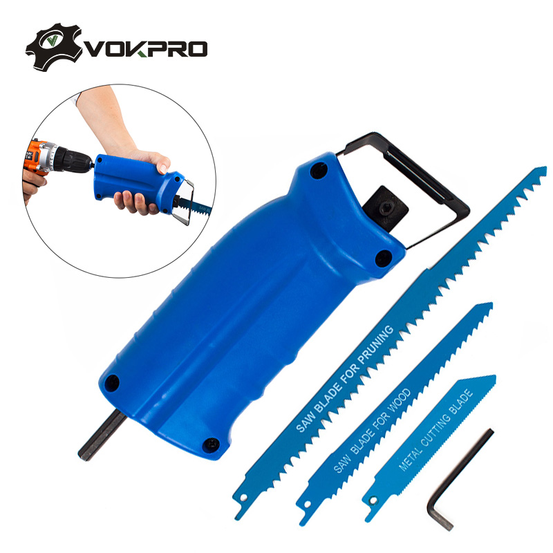 Household Reciprocating Saw Power Tool Accessories For Metal Cutting Wood Cutting Tool Electric Drill Attachment With