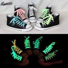 Спортивное светятся люминесцентные темноте светоотражающие светящиеся шнурки пара спорт цвет см