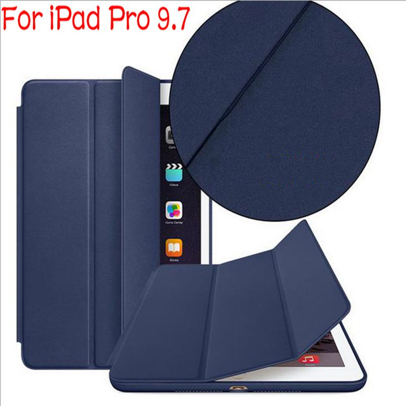 Luxury Stand Flip Smart PU Leather Cover for iPad Pro 9.7'' Tablet Case With Auto Sleep/Weak Up+Free Screen Protector+Stylus Pen stand flip leather case for apple ipad mini 2 smart cover case gumi brand screen protectors stylus pen