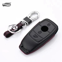 2018 New 4D Genuine Leather Key Cover Wallet Bag Holder For Mercedes Benz E Class W213