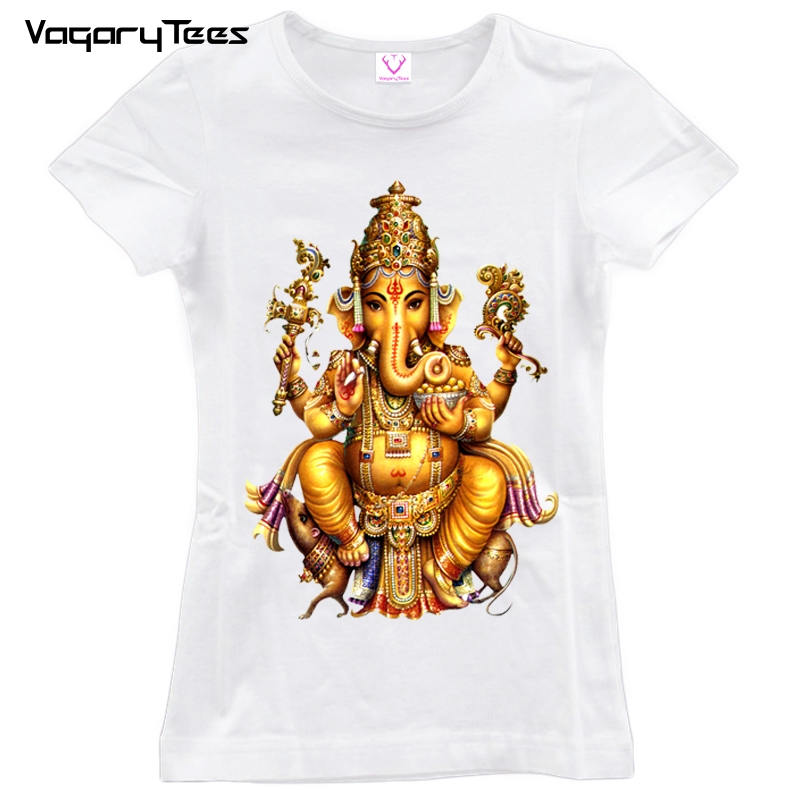 2019 Summer Hindu God T Shirt Women Short Sleeve O Neck -4521