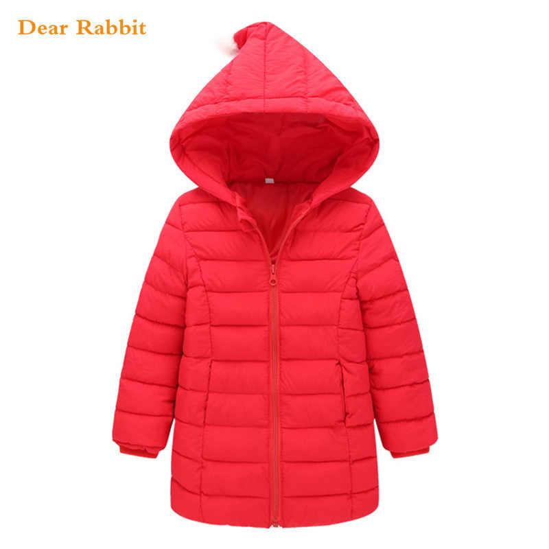 Новинка 2019 года; сезон весна; теплый пуховик для девочек; хлопковые куртки и пальто для маленьких детей; осенне-зимний пуховик; детская верхняя одежда