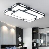 Простые современные светодиодный Потолочные светильники для Гостиная Спальня потолочные светильники черный/белый Освещение в помещении
