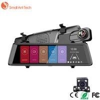 SmallAntTeach Dash Cam Android Samochód DVR z Dwoma Obiektywami Kamera 3G MTK6582 10
