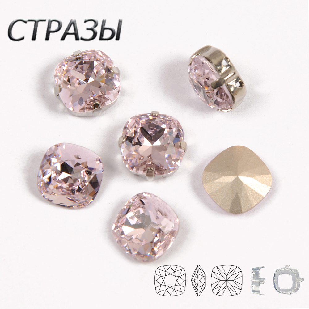 Light Rose DIY Strass Sew On Rhinestones Silver Gold Claw Setting Fancy Stones For Garment Jewelry Decoration