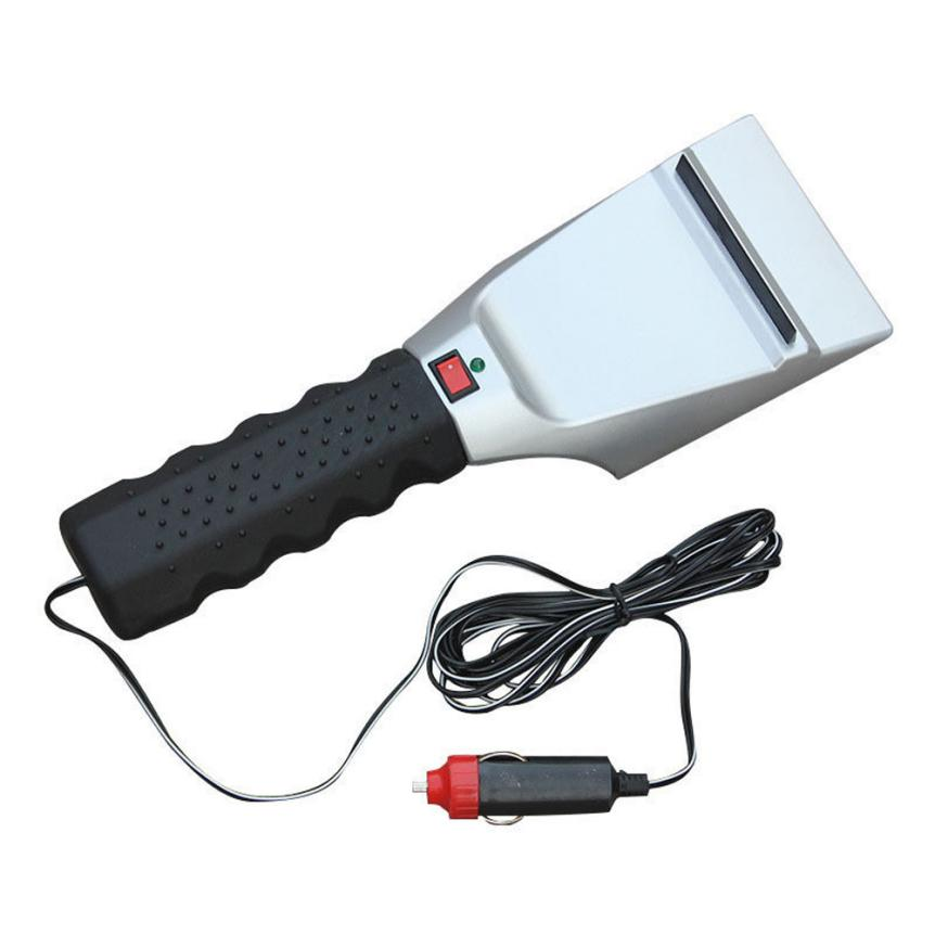 12V Car Heated Auto Winter Vehicle Snow Ice Scraper Window Shovel Scraper Flexible Mini Squeegee Easy