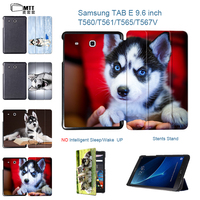 HUSKY Dog Protection Shell For Samsung Tab E 9 6 Inch Flip Folding Cover Case For