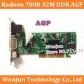 Frete Grátis Nova Marca ATI Radeon 7000 32 M DDR VGA/DVI/TVO AGP PLACA de VÍDEO em estoque